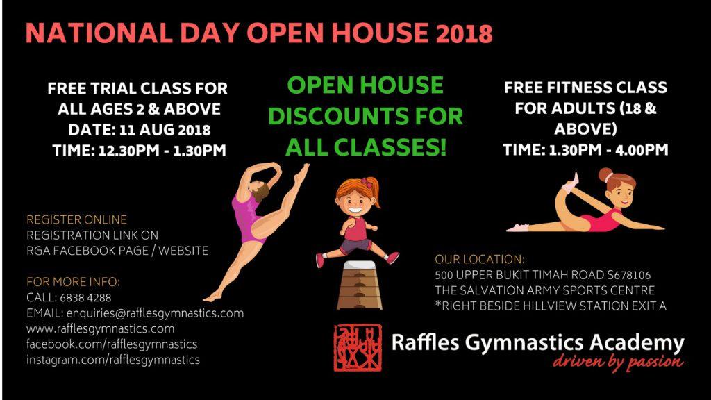 Raffles Gymnastics Academy National Day Open House