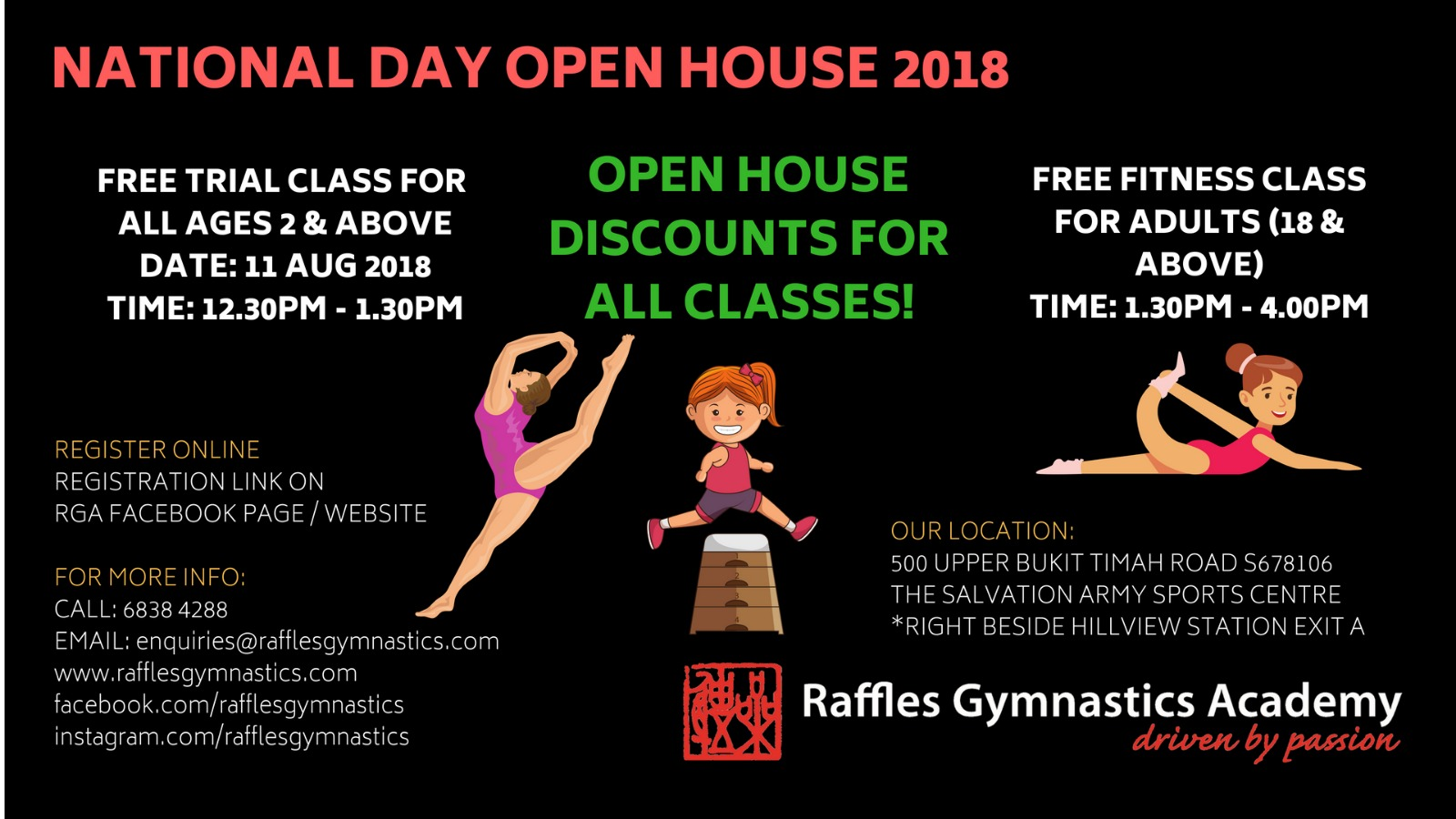 Raffles Gymnastics Academy National Day Open House