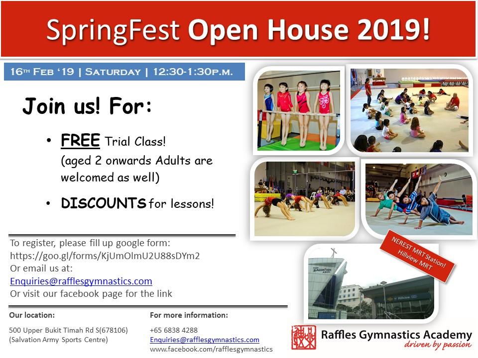Raffles Gymnastics Springfest Poster 2019