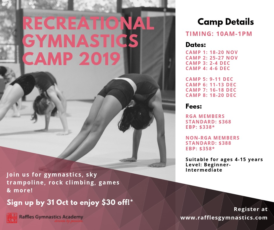 Recreational Gymnastics Camp 2019