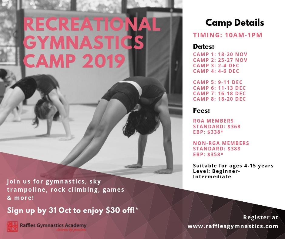 Recreational Gymnastics Camp 2019