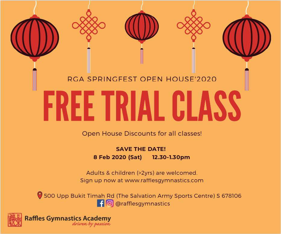 Raffles Gymnastics Academy SpringFest Open House 2020