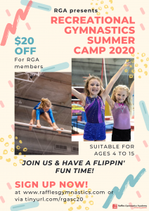 Raffles Gymnastics Summer Camp 2020