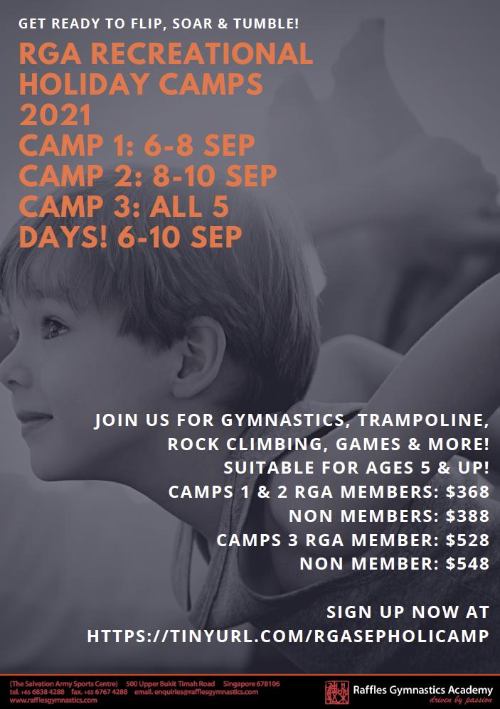 Raffles Gymnastics Academy Recreational September Holiday Camp 2021